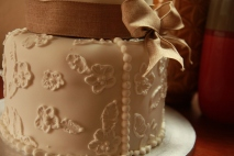 wedding cake by had lace